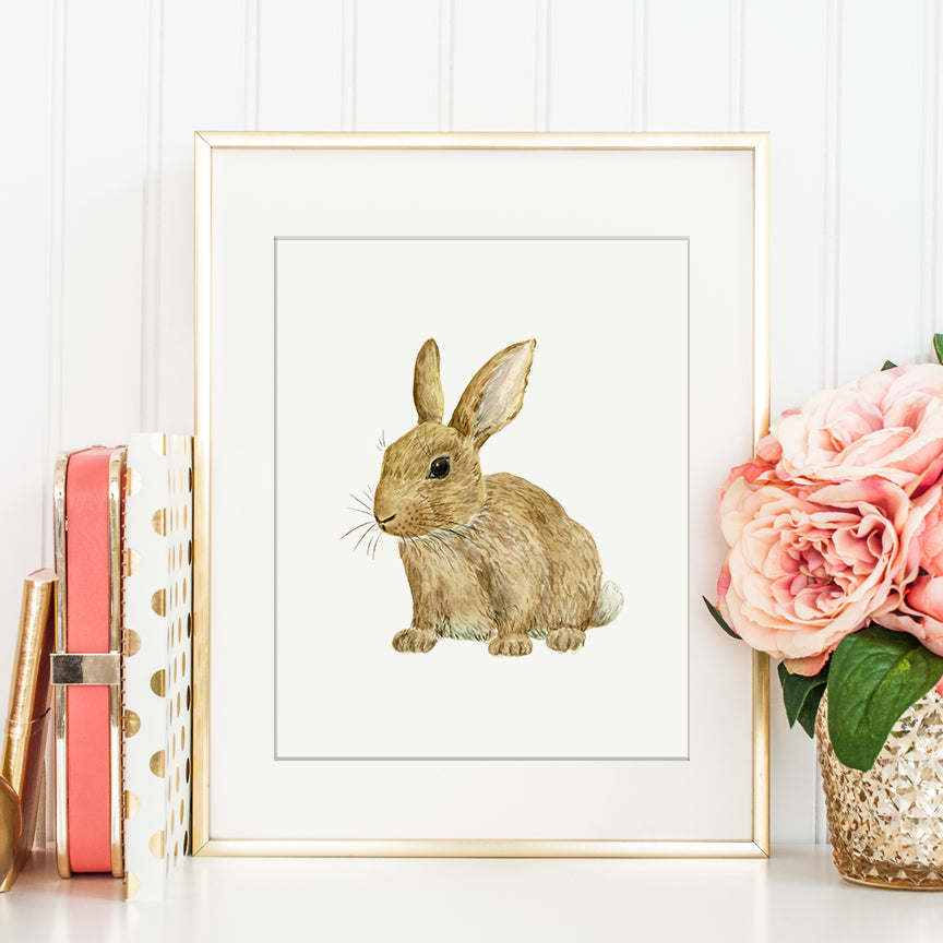 watercolor baby rabbit illustration