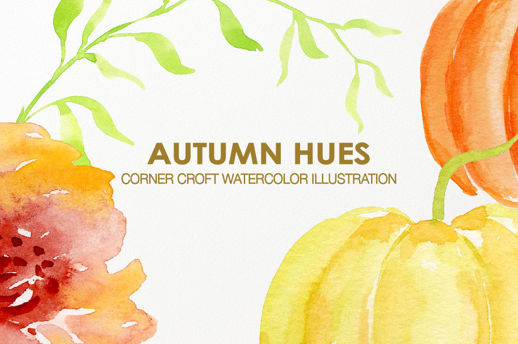 watercolor illustration autumn hues instant download