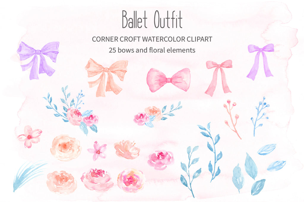 watercolor clipart of ballet shoes, peach ballet shoes illustration, instant download
