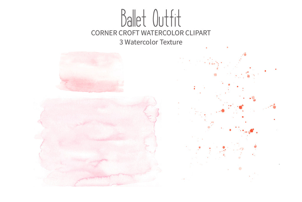 watercolor peach texture, ballet dance outfit clipart