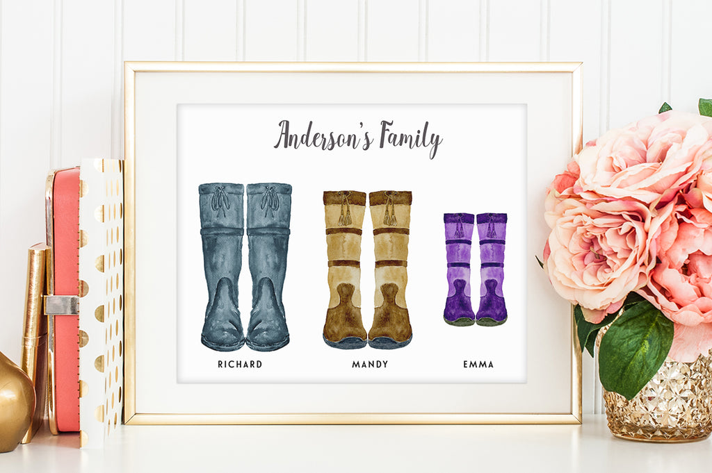 watercolor boots illustration, country boots clipart, stable boots clipart, instant download
