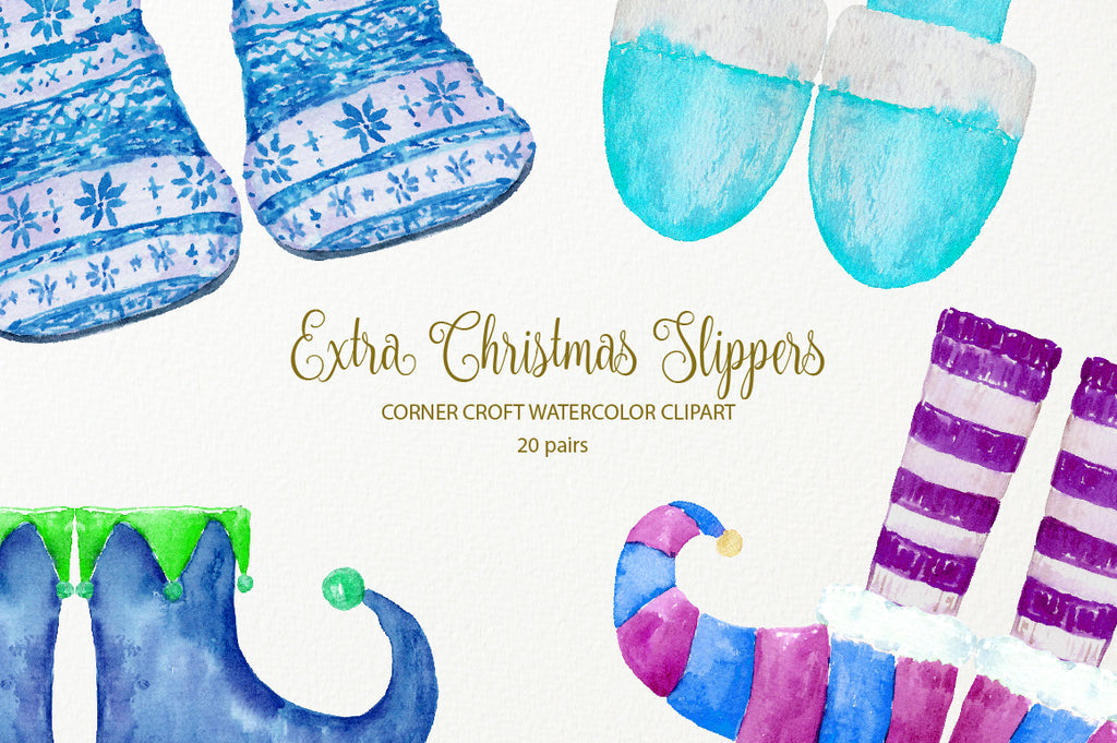 elf slippers, santa slippers, knitted slippers instant download