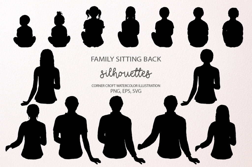 svg files of people sit back instant download