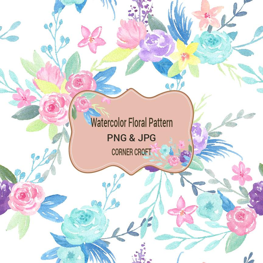 Seamless Floral Pattern Png