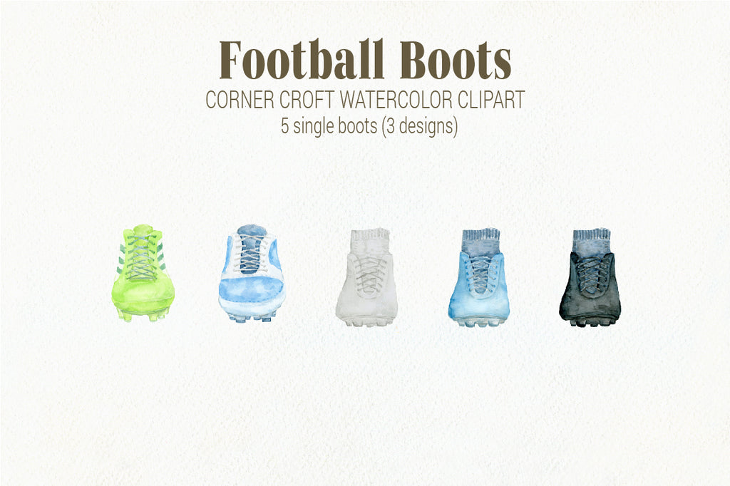 watercolor boots instant download, soccer boots clipart, sport illustration