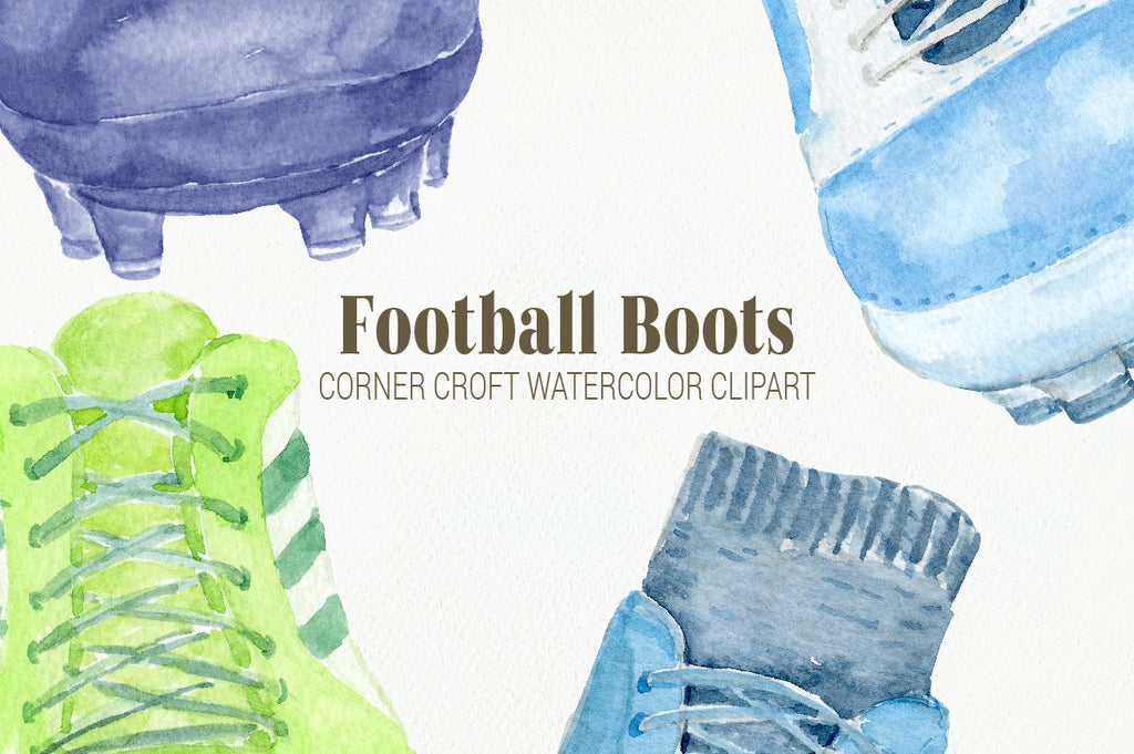 football boots clipart, watercolor soccer boots clipart, sport boot clipart