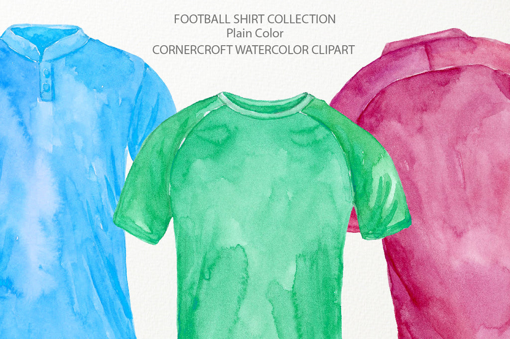 soccer shirt clipart, watercolor football shirt illustration, detailed illustration