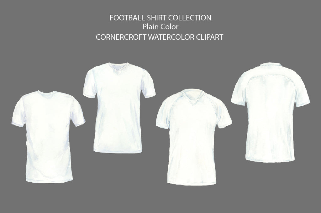 white football shirt illustration, instant download
