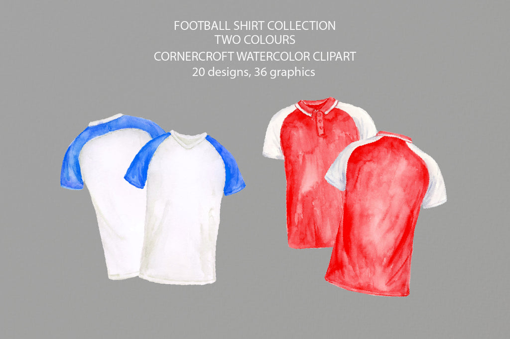 front of football shirt, back of football shirt, football shirt clipart, instant download
