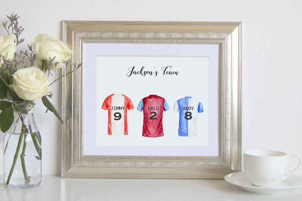 soccer shirt, football shirt illustration, my family print, instant download