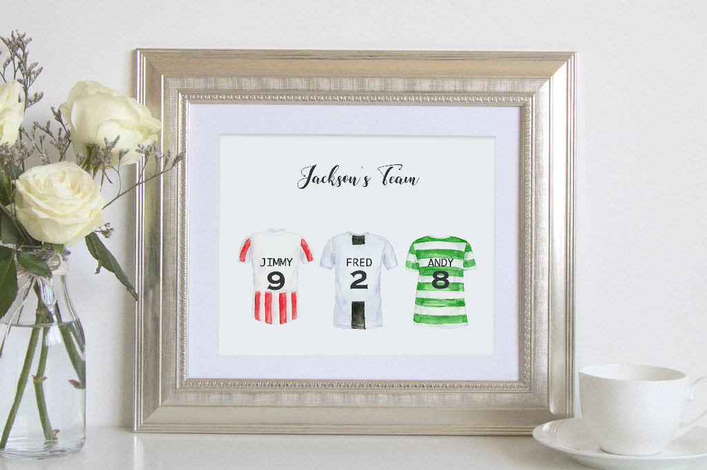 football shirt clipart for making personalised print, my league team print
