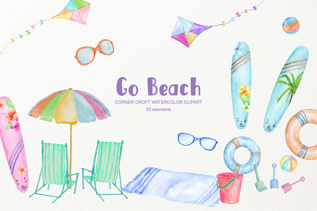 beach graphics, kids clipart, beach activites