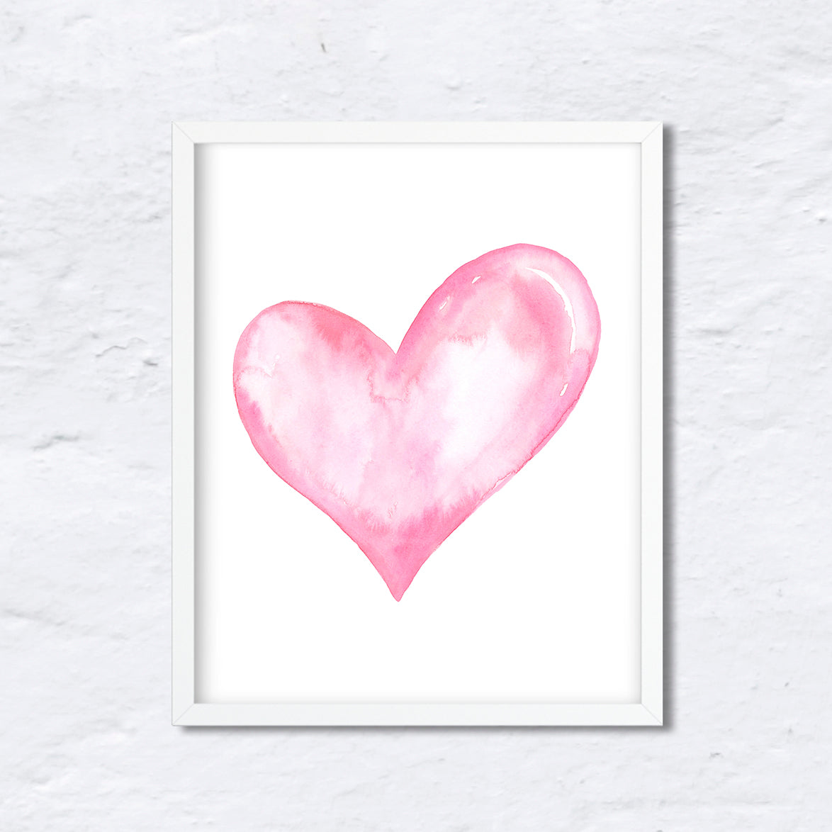 image about Valentine Heart Printable identified as Watercolor Centre Artwork Print Electronic Obtain, Peach Middle Case in point
