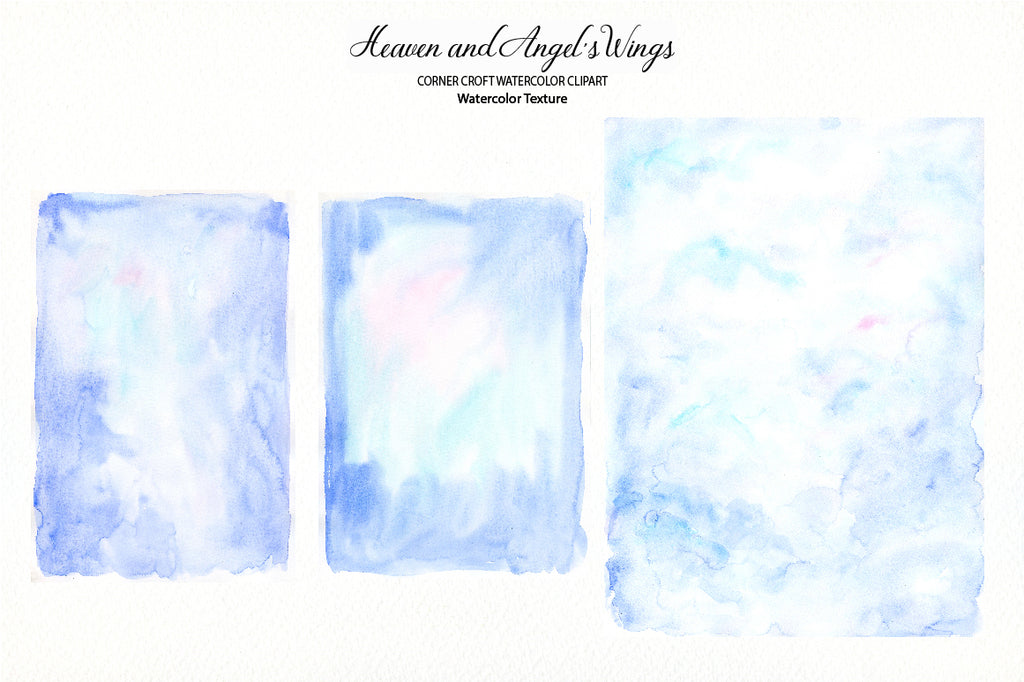 watercolor texture, clipart angel's wings, heaven elements