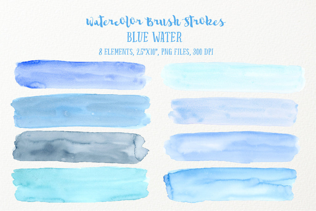 watercolor blue texture, watercolor brush stroke blue