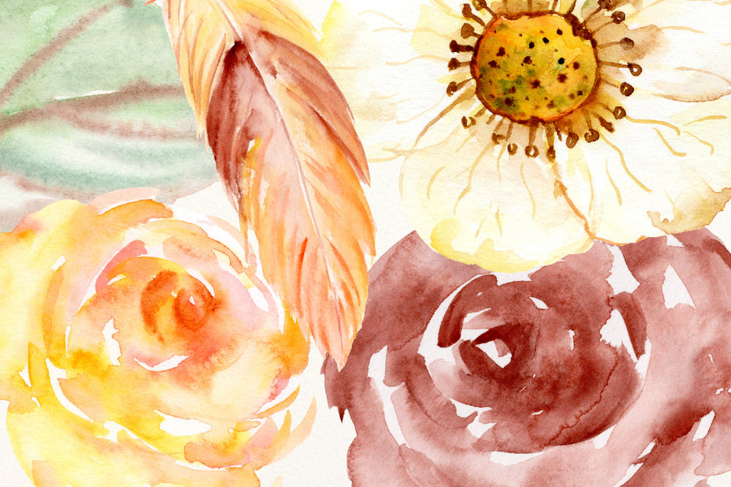 watercolor clipart autumn bliss, watercolor graphics instant download