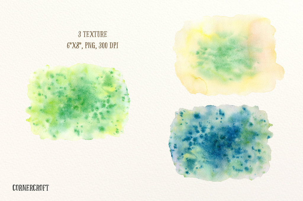 watecolor texture, green, yellow texture, watercolor background instant download