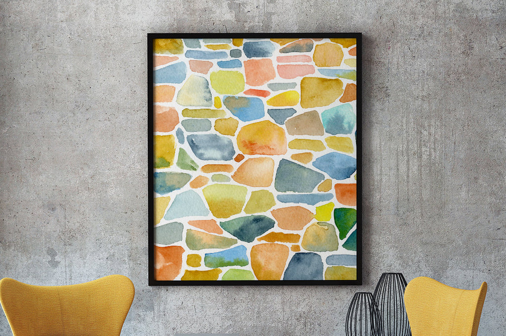 watercolor natural stone pattern, watercolor stone background,