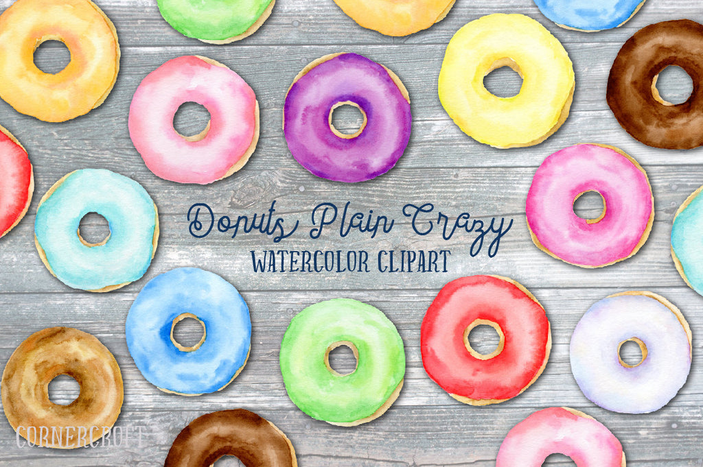 watercolor donut illustration, detailed donut illustration, food illustration