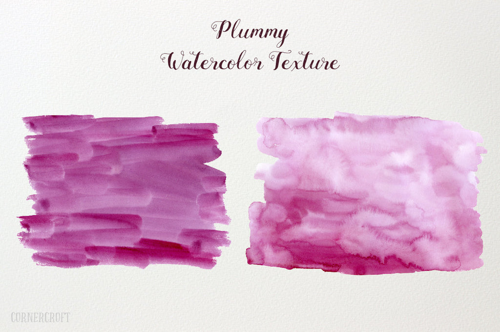 Hand painted watercolor plummy and purple themed background texture for instant download