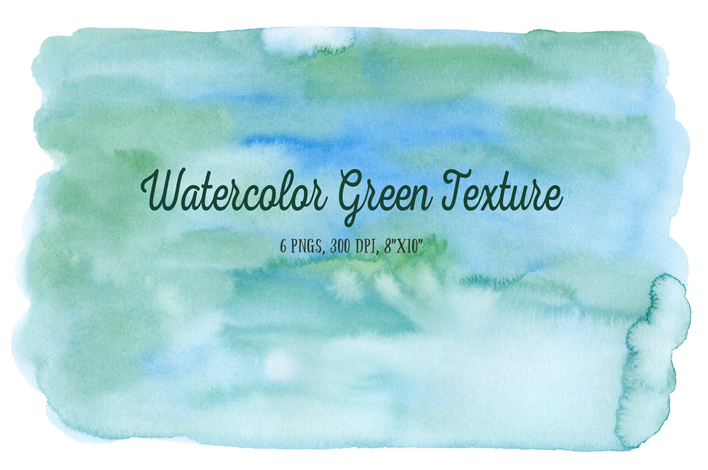 Hand painted watercolor green themed background texture for instant download