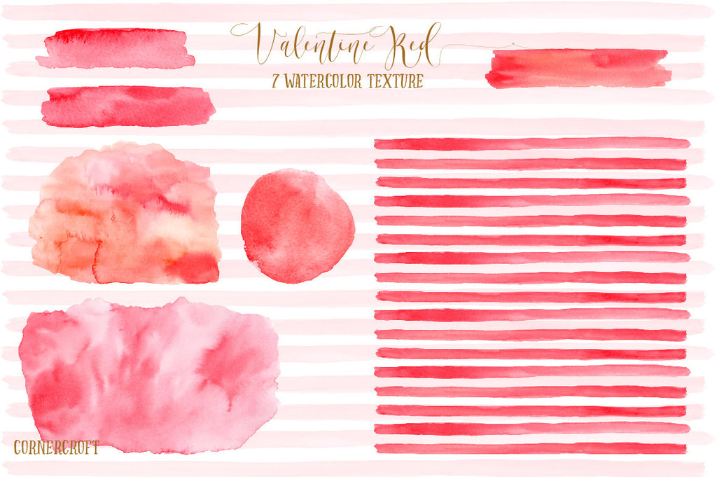 watercolor red texture, brush stroke, design background, instant download