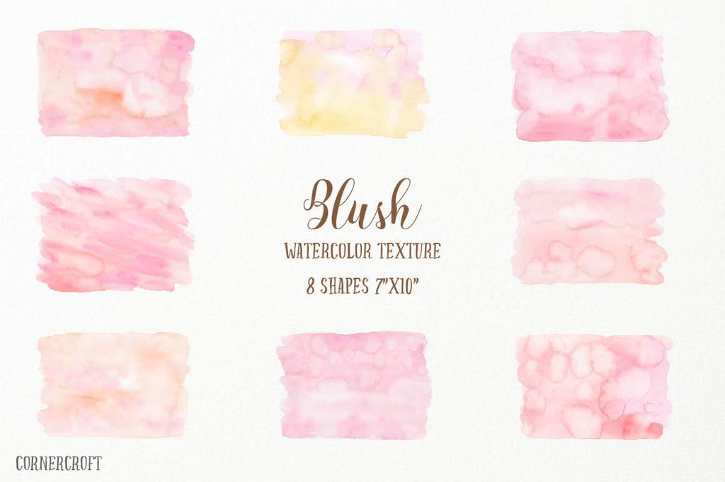 watercolor clipart, watercolour texture, watercolor skin tone, blush and peach textures