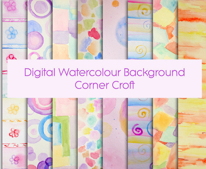 hand painted watercolor pastel pattern