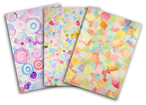 watercolor pastel pattern for instant download