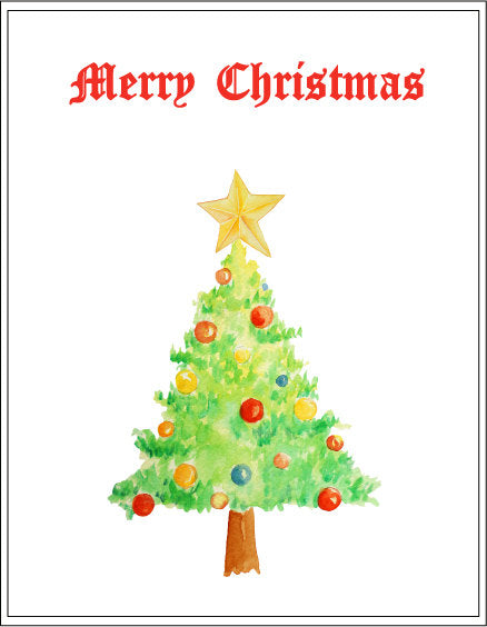 Watercolor Clipart Christmas Trees Snowman Fairy Instant Download