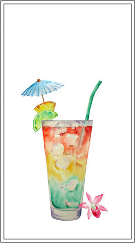 party drink, watercolor illustration, watercolor cocktail graphics