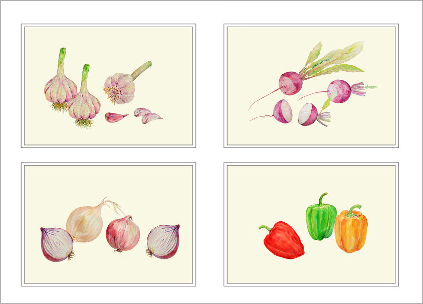 watercolor clipart, vegetable clipart, detailed illustration