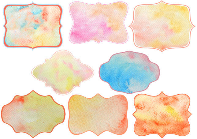 watercolour texture, watercolor tag, watercolor background gift tab, label.
