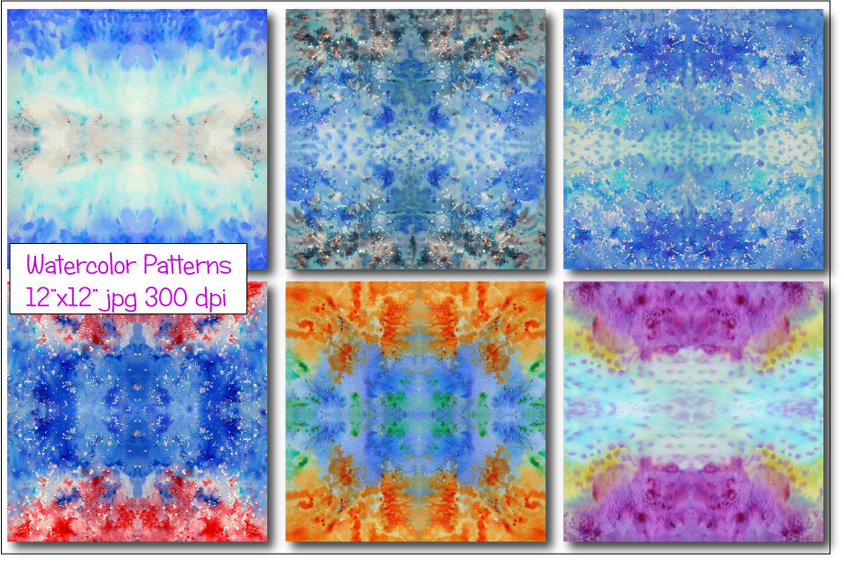 watercolor boho seamless pattern, instant download