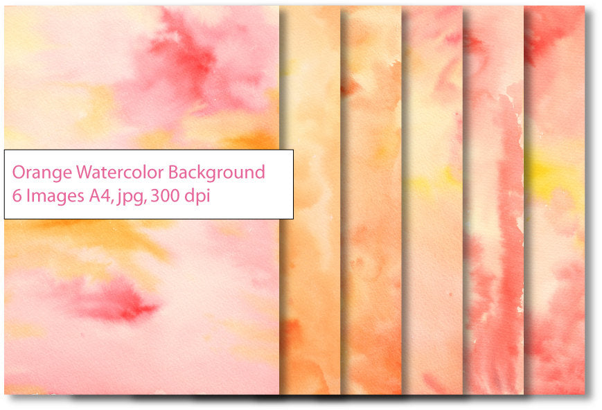 Yellow and orange watercolor textured background instant download for graphic design, photoshop effects