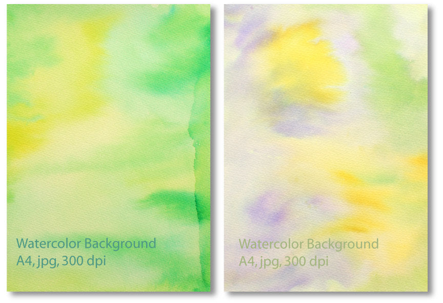 Green yellow watercolor textured background instant download for graphic banner design photoshop effects
