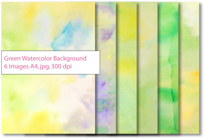 Green yellow watercolor textured background instant download for graphic, banner design, photoshop effects