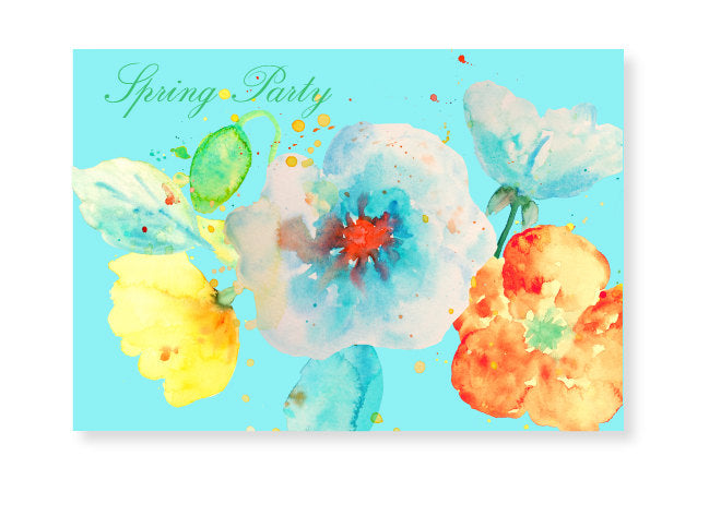 watercolor poppy clipart. pastel color poppy with paint effect