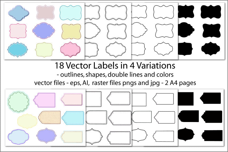 label, pastel color, vector label, digital download, Christmas, holiday