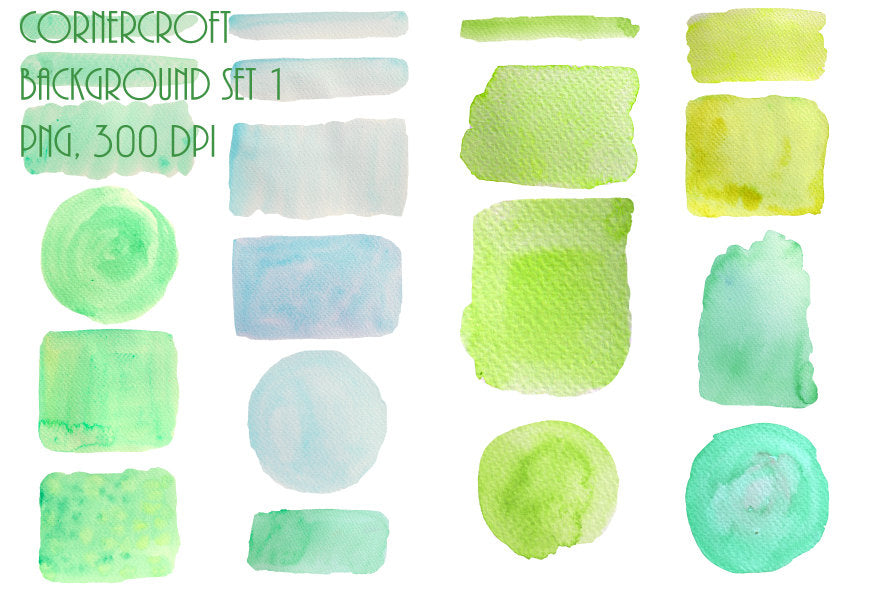 watercolor texture, blue, green yellow, digital download