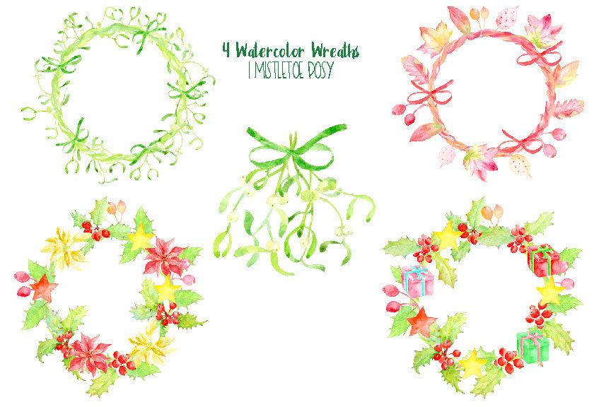 Christmas wreaths, part of Christmas bundle