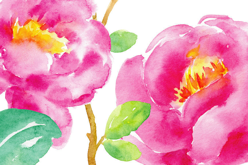 watercolor clipart purple tree peony and birds,