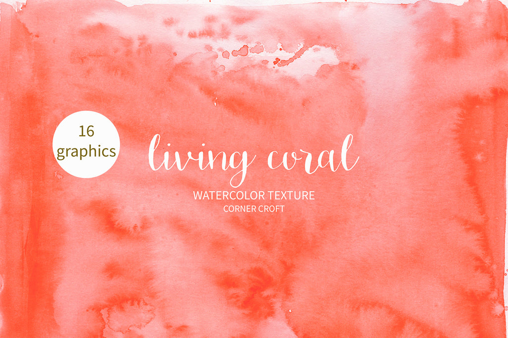 watercolor texture, orange and pink, 2019 color trend living coral