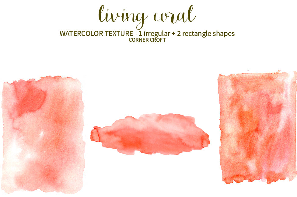watercolor textured background in orange and living coral