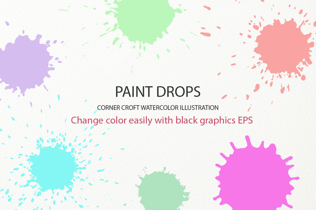 watercolor paint drop effect eps