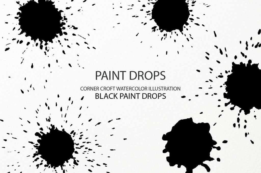 black paint drop effect, svg, png, eps instant download