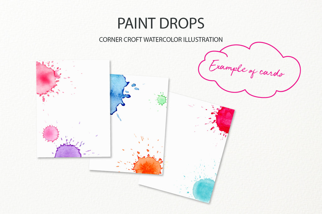 watercolor paint drop effect, watercolor clipart