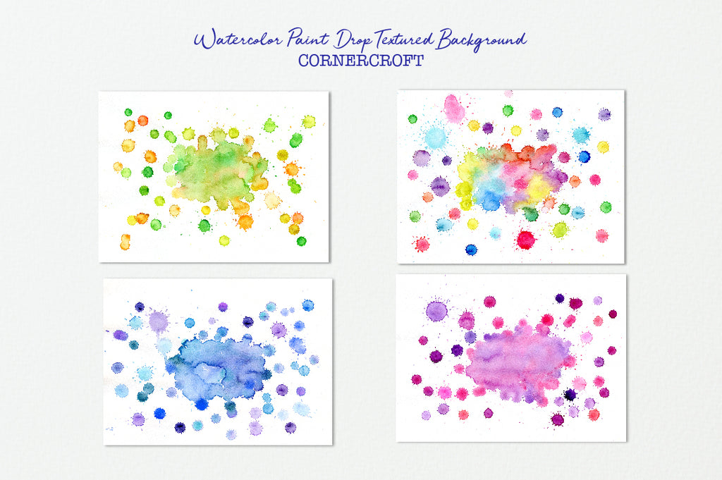 watercolor paint drop effect, watercolor texture, paint drops