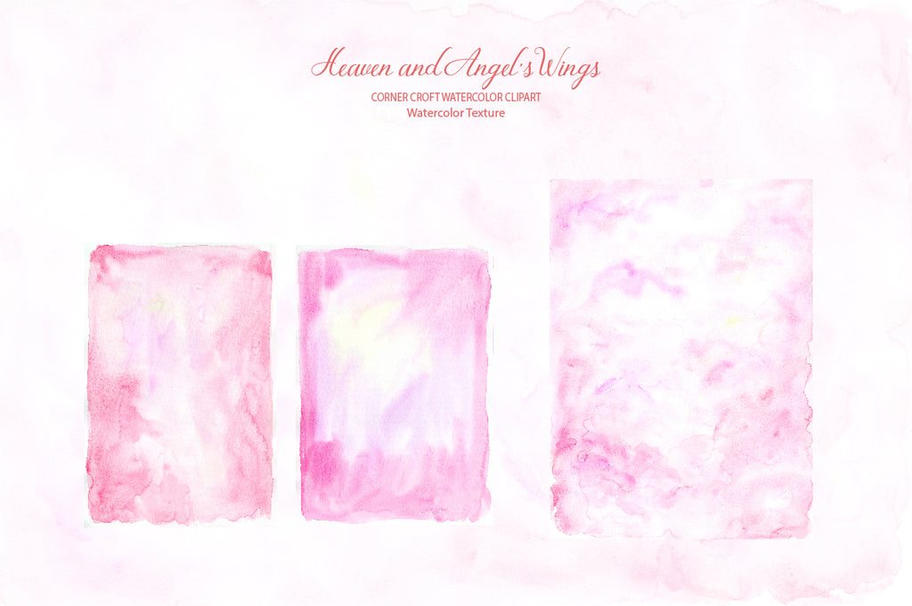 angel's wing, pink wing, pink watercolor texture digital download