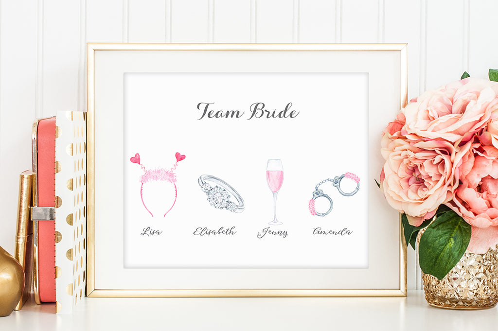 watercolor clipart, hen party clipart, instant download, personalised print